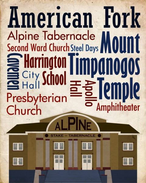 Sights of American Fork Travel Poster