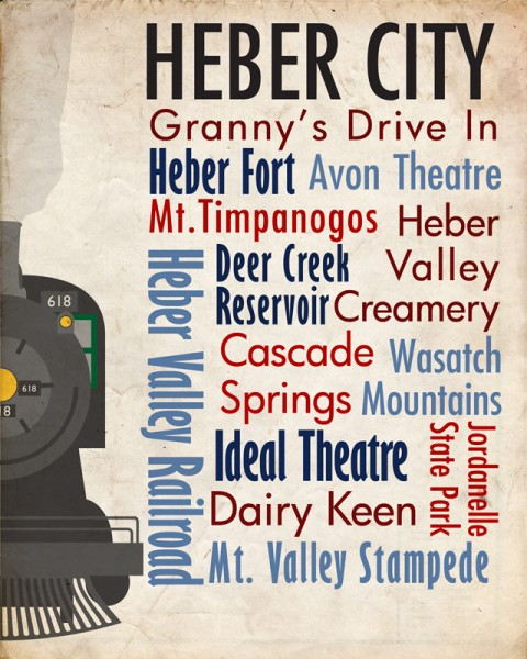 Sights of Heber City Travel Poster