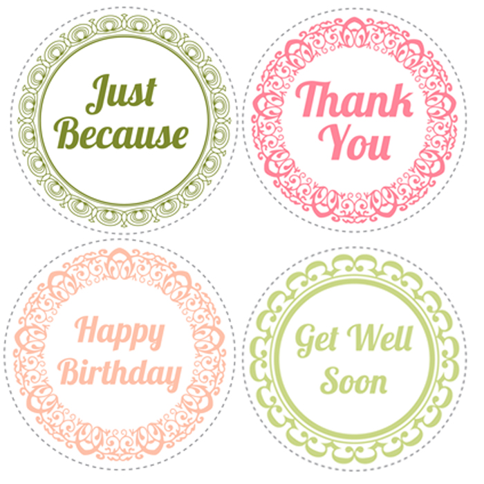Mason Jar Lids Printables Preview