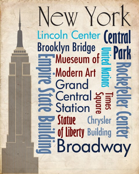 Sights of New York Travel Poster
