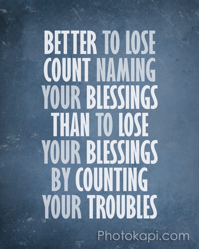 Better to Lose Count Naming Blessings