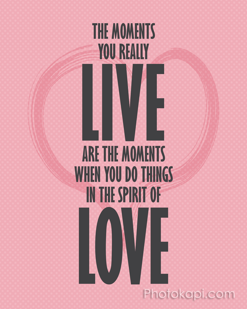 Live the Spirit of Love