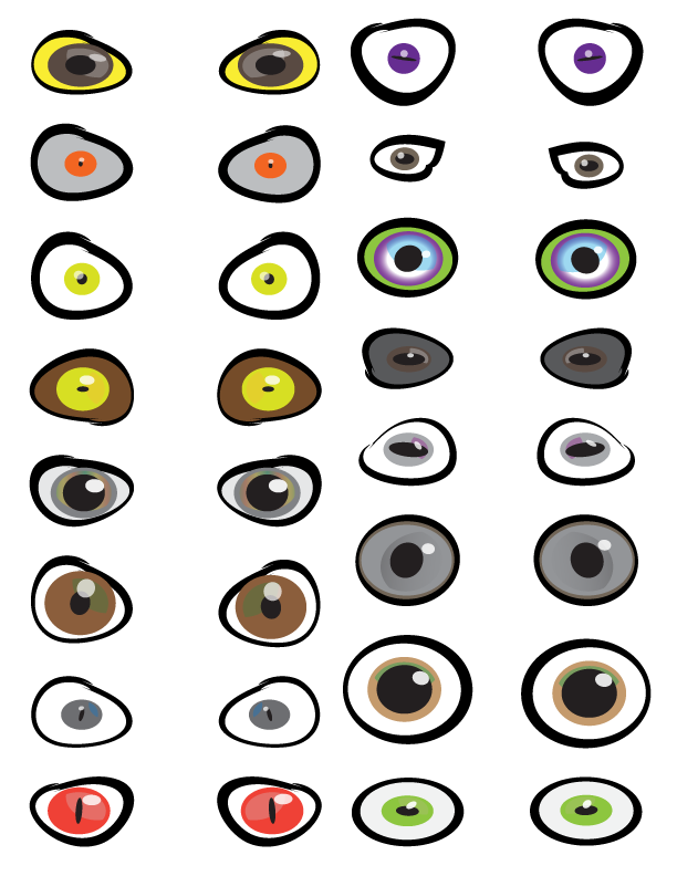 Scary Eyeballs Printables
