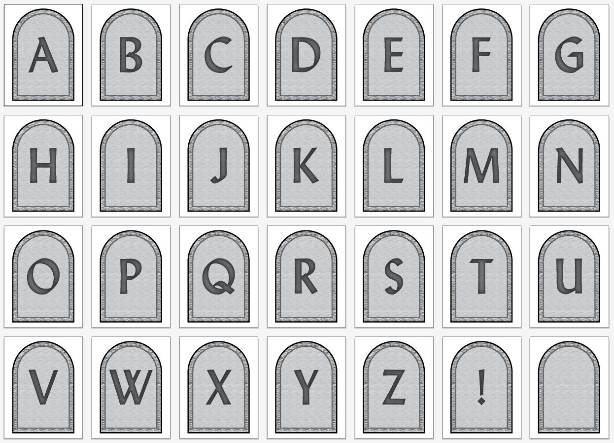 Free Headstone Pennant Printable