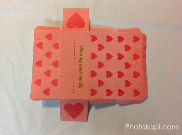 How Do I Love Thee Valentine Box - Photokapi.com