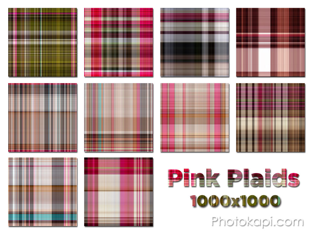 Pink Plaids by Photokapi.com