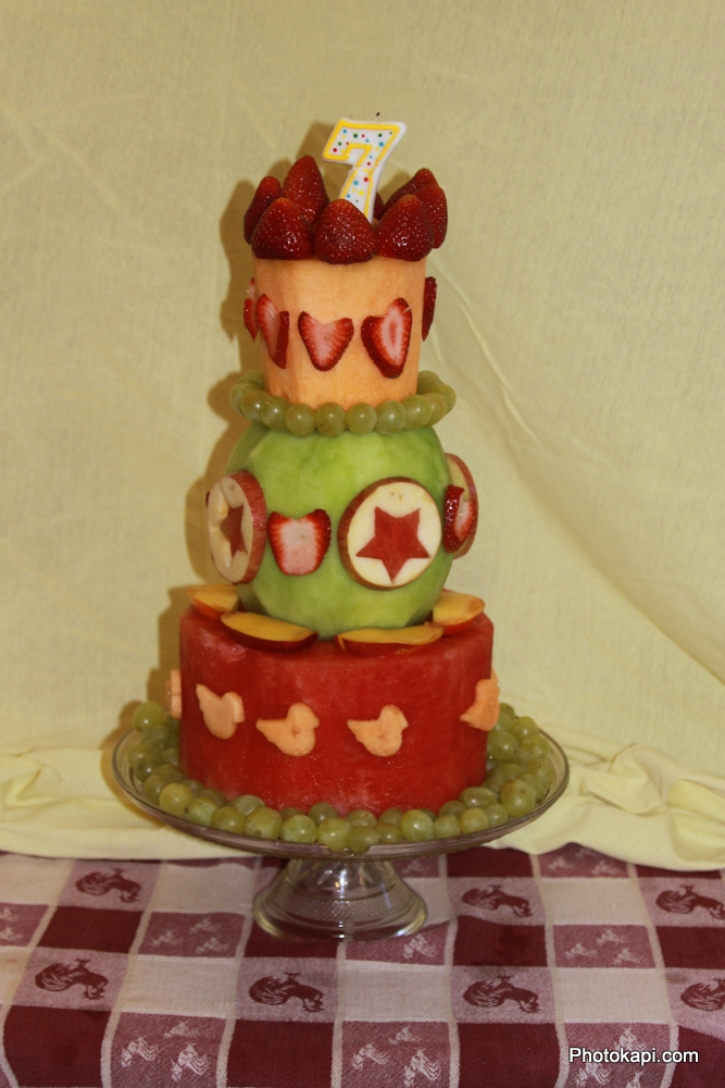 Fruit Birthday Cake - Photokapi.com