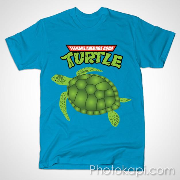 Teenage Average Aqua Turtle