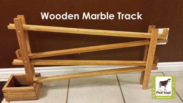 Wooden Marble Track | Photokapi.com