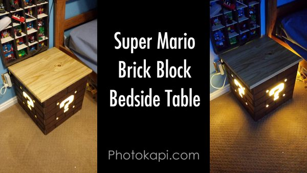 Super Mario Brick Block Bedside Table