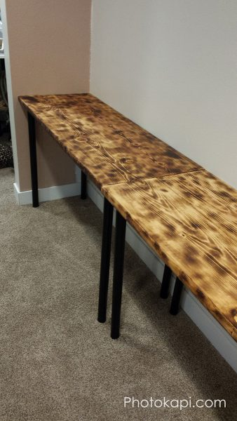 Rustic Desk Build | Photokapi.com