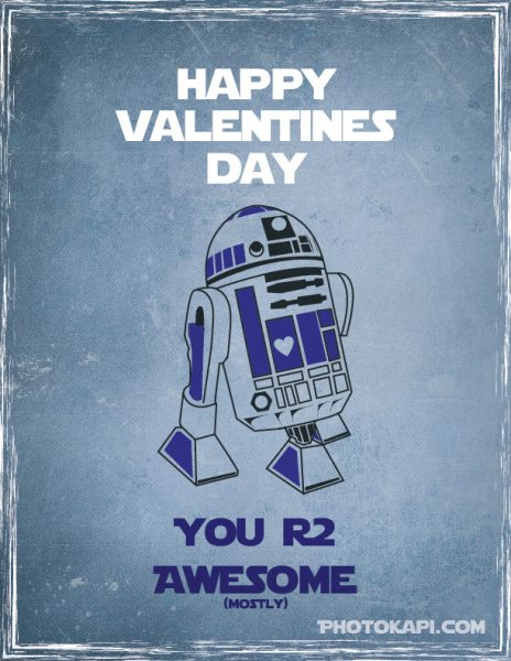Printable Star Wars Valentines - R2D2 | Photokapi.com