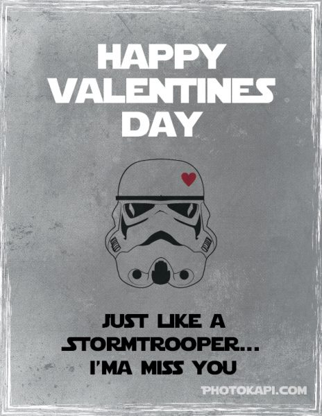 Printable Star Wars Valentines - Stormtrooper | Photokapi.com