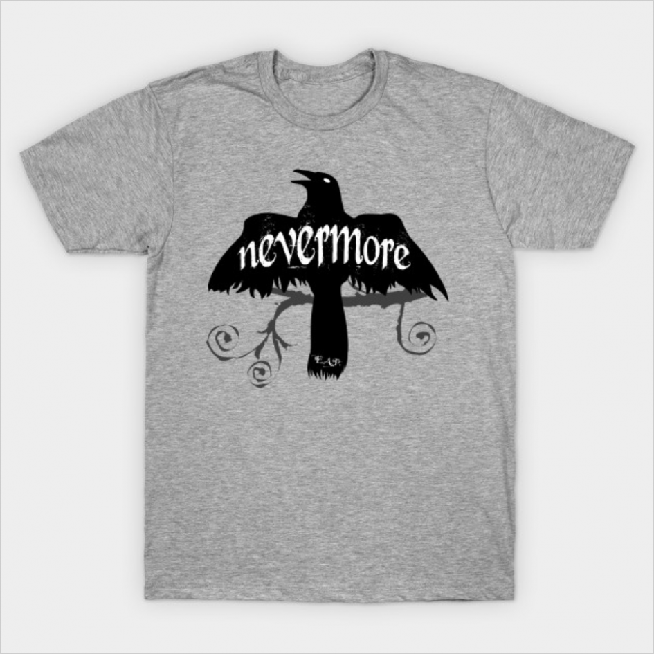 Nevermore - Raven [Edgar Allen Poe] T-Shirt   Photokapi.com