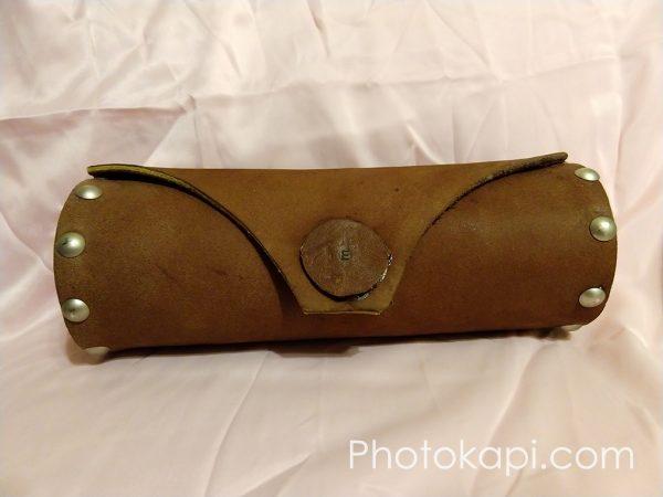 Leather and Wood Pencil Case   Photokapi.com