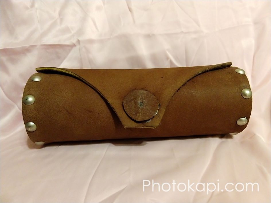 Leather and Wood Pencil Case | Photokapi.com