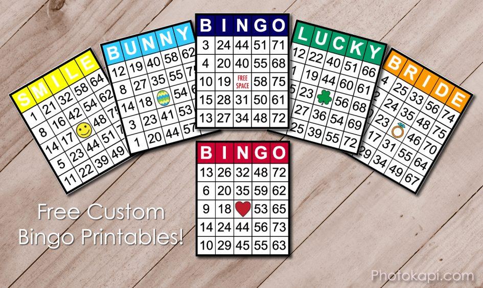 Free Custom Bingo Printables | Photokapi.com