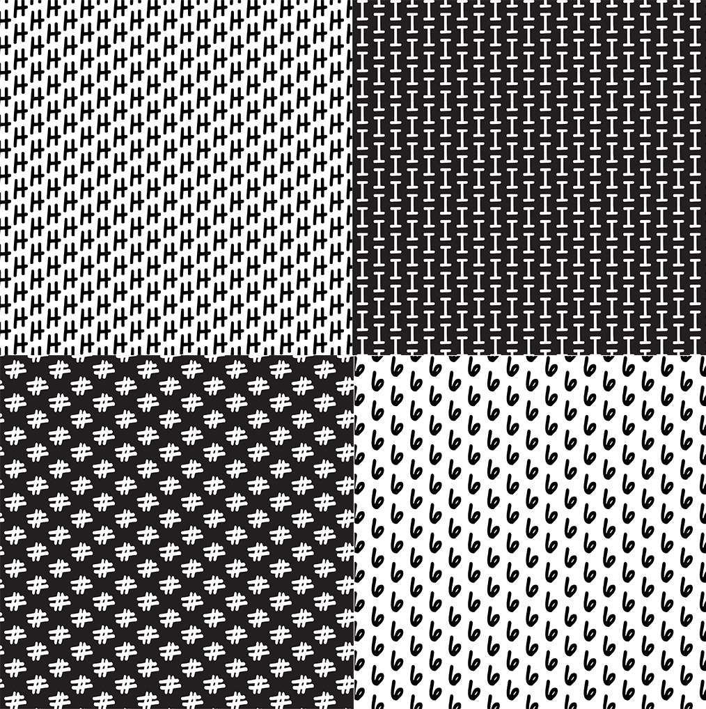 AlphaNumeric Tiled Black and White Backgrounds | Photokapi.com