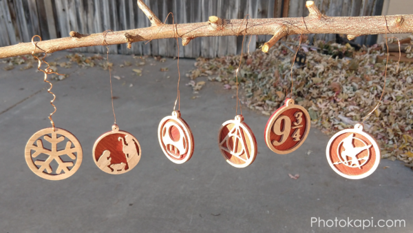 Maple and Bloodwood Christmas Ornaments | Photokapi.com