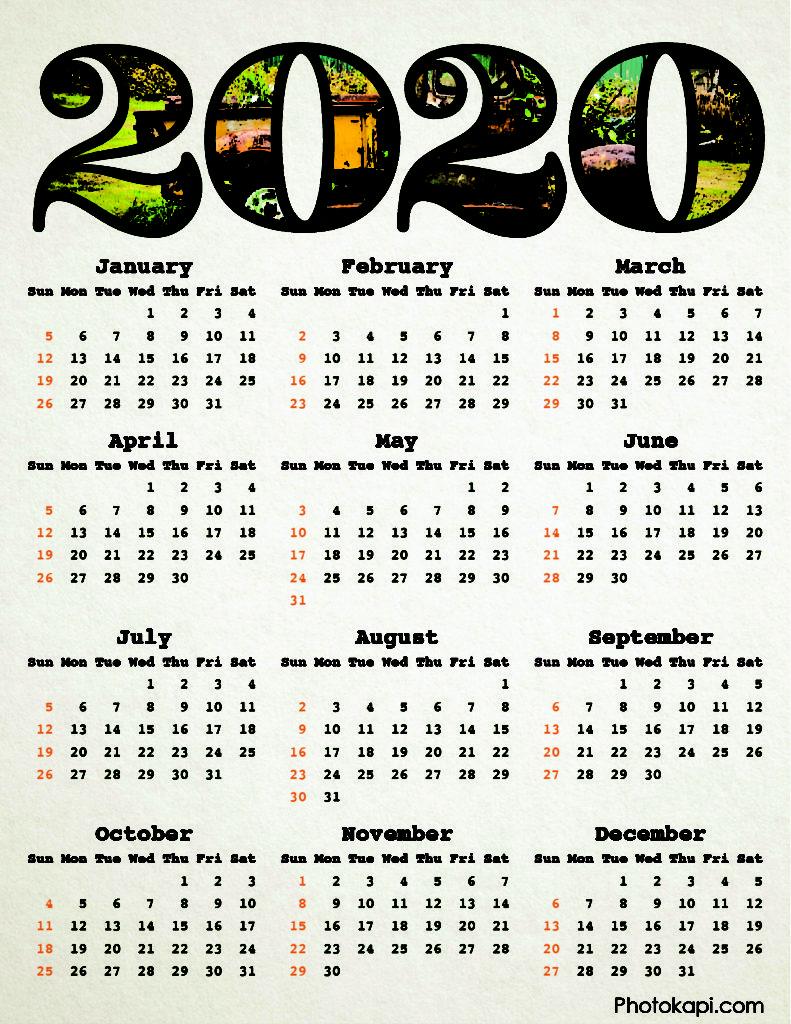2020 Calendar Old Truck | Photokapi.com